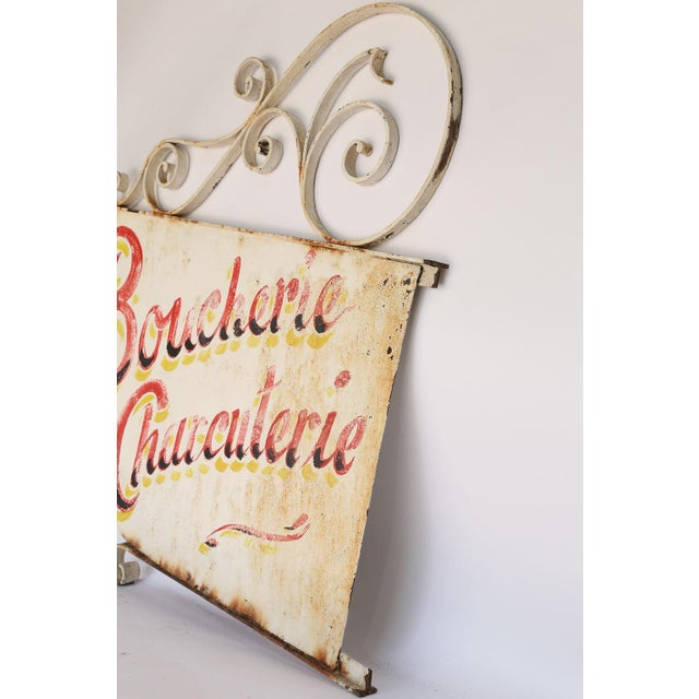 Mid 20th Century Vintage French Boucherie Charcuterie Shop Sign For Sale - Image 5 of 7