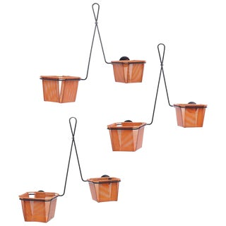 Set of Three Mathieu Matégot Plant Stand Chambord