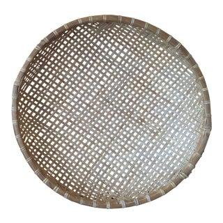 Vintage Round Bamboo Basket