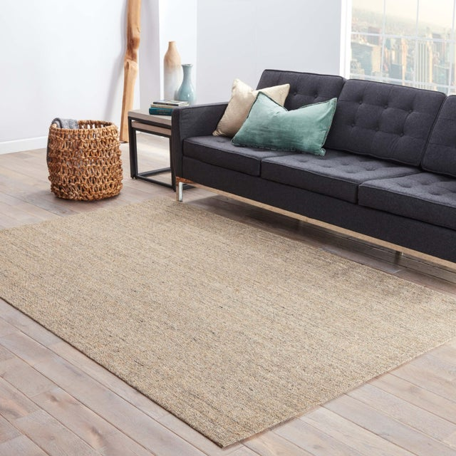 2010s Jaipur Living Daytona Natural Cream/ Gray Area Rug - 9′6″ × 13′6″ For Sale - Image 5 of 6