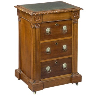 English Late Regency Library Desk/Cabinet For Sale