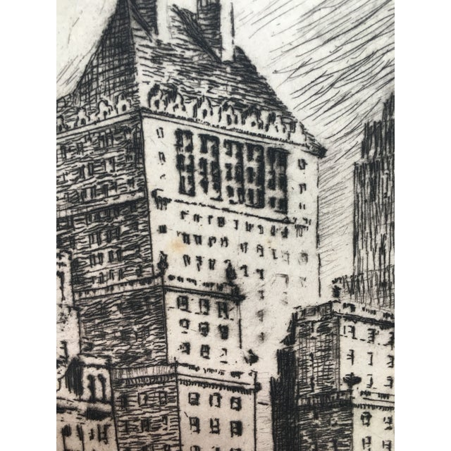 """1940's New York Etching """"Central Park"""" by Nat Lowell For Sale In Philadelphia - Image 6 of 13"""