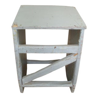 Primitive Dove Gray Stand or Lectern For Sale