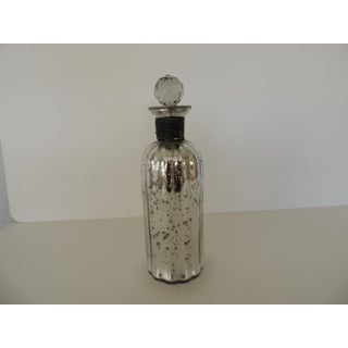 Round Mercury Glass Decanter With Cut Glass Design Stopper Preview