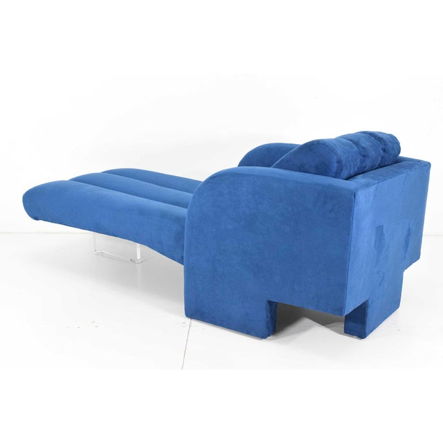 1970s Vladimir Kagan Deco Chaise For Sale - Image 10 of 12