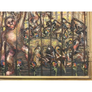 """""""Monkeys"""" Oil Painting by Roman Gyorgy, 1965 Preview"""