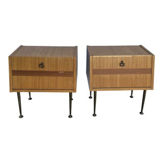 1960s Mid Century Italian Bedside Tables - a Pair For Sale