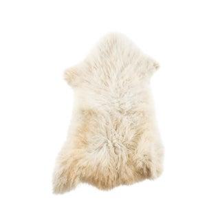 "Hand-Tanned Sheepskin Pelt Rug - 2'2""x3'0"" For Sale"