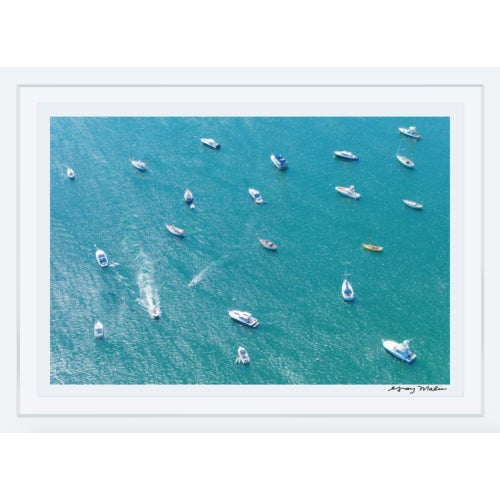 """Transitional Framed """"Nantucket Harbor"""" Aerial Photograph by Gray Malin (Signed Ed. 4/100) For Sale - Image 3 of 3"""