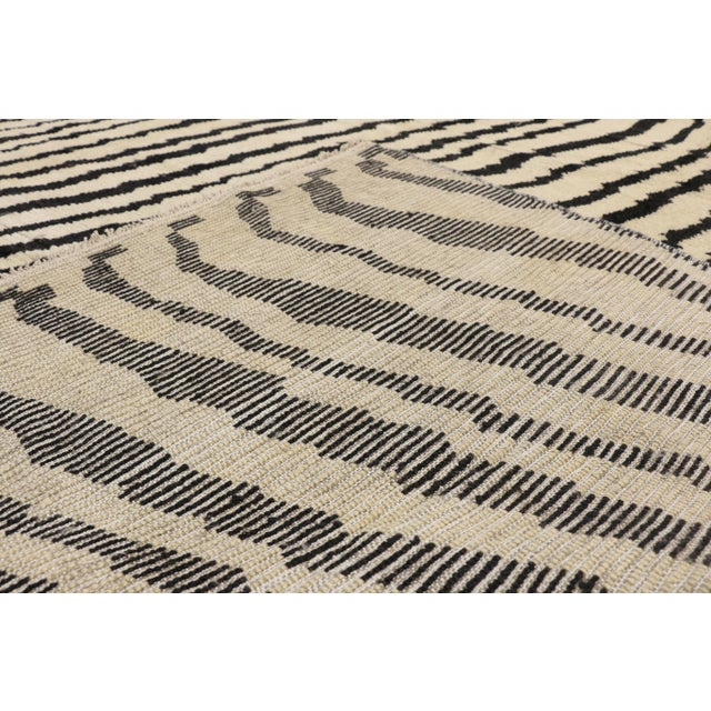 Early 21st Century Contemporary Moroccan Area Rug- 10′3″ × 13′10″ For Sale - Image 5 of 10