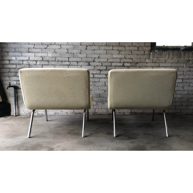 1990s Roche Bobois Chrome Lounge Chairs - a Pair For Sale - Image 9 of 13