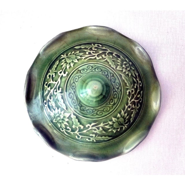 Dragons Celadon Lidded Ginger Jars - A Pair For Sale - Image 7 of 8