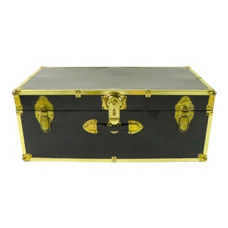 1970's Metal Storage Trunk For Sale