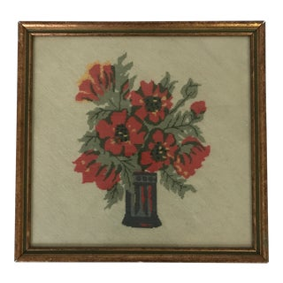 Framed Bouquet Needlepoint