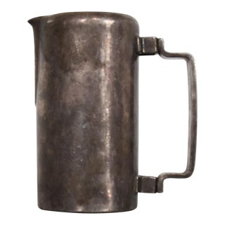 1950s Mid-Century Silver Pitcher Sterling Plated Meneses Bros of Spain For Sale