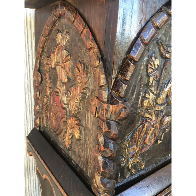 20th Century Carved and Polichromed Cabinet Bar on Stand Varqueno, Buffet, Spain For Sale - Image 10 of 13
