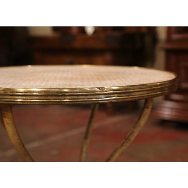 Metal 19th Century Napoleon III French Iron and Wood Gueridon Pedestal Table For Sale - Image 7 of 8
