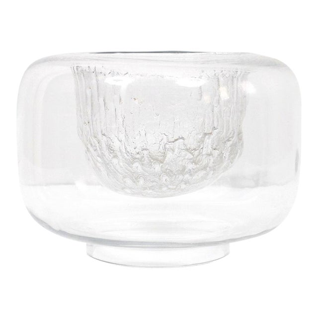 "Large Timo Sarpaneva Iittala ""Finlandia"" Glass Bowl For Sale"