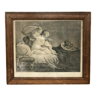 """Antique French """"La Resistance Inutile"""" Etching For Sale"""