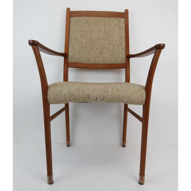 1960s Sculptural Mid-Century Modern Danish Teak Dining Chairs - Set of 4 For Sale In Chicago - Image 6 of 13