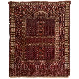 Turkmen Ensi Antique Rug - 3′1″ × 4′10″ For Sale