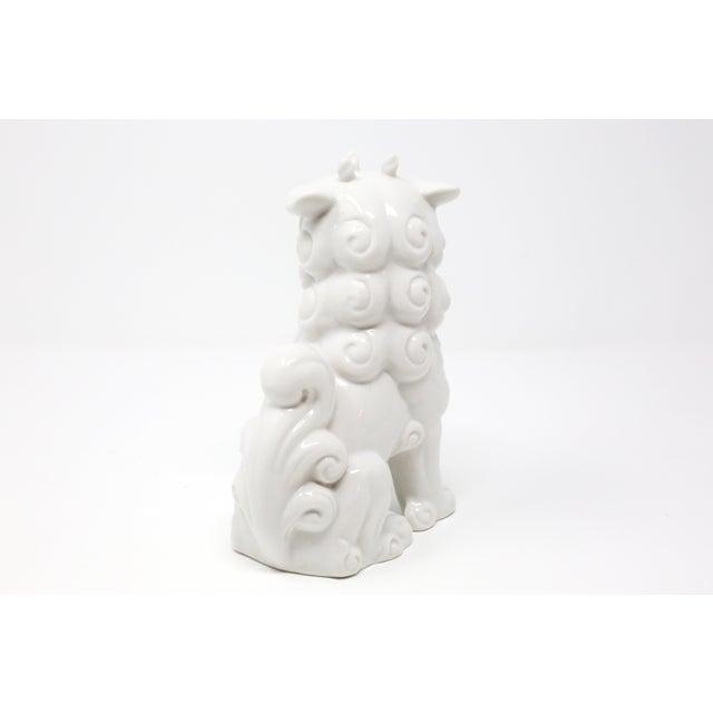 Vintage Blanc De Chine Foo Dog Figurine For Sale - Image 4 of 12