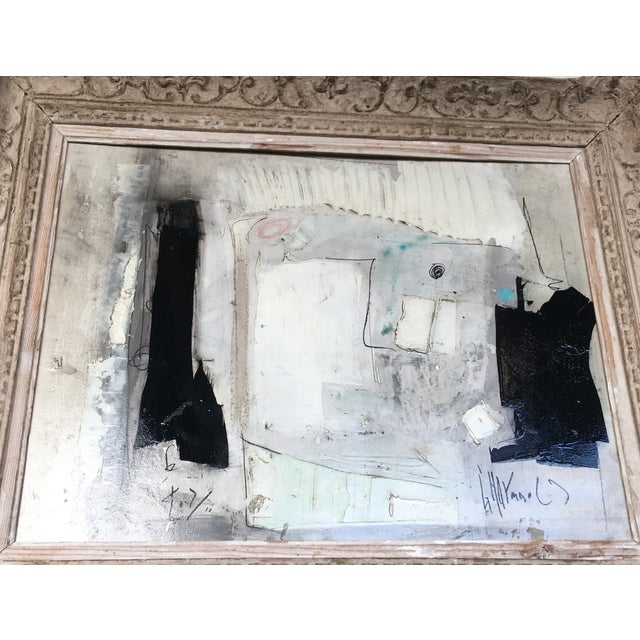 1960s Black & White Abstract Painting - Image 2 of 9