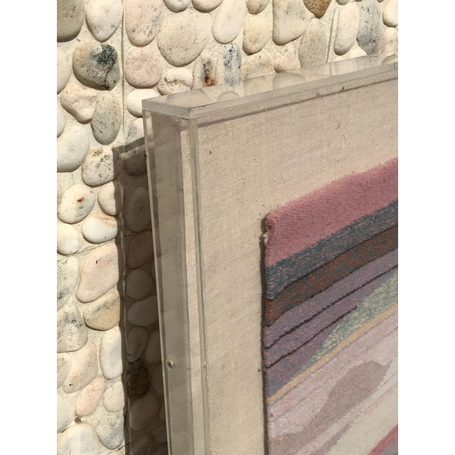 Handwoven Abstract in Plexi Case From a Steve Chase Palm Springs Estate For Sale - Image 9 of 10