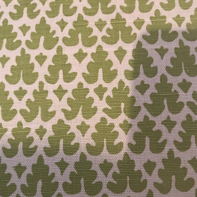 Quadrille Volpi Linen Apple Fabric 1 1/2 Yards For Sale In Raleigh - Image 6 of 6