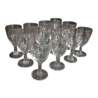 Twelve French Glasses For Sale