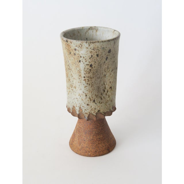 Mid-Century Modern Vintage Ceramic Studio Pottery Vase For Sale - Image 3 of 5
