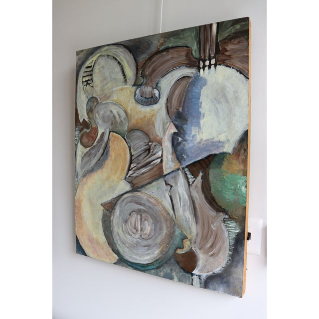 Modern Organic Cubist Abstract Painting For Sale - Image 4 of 4