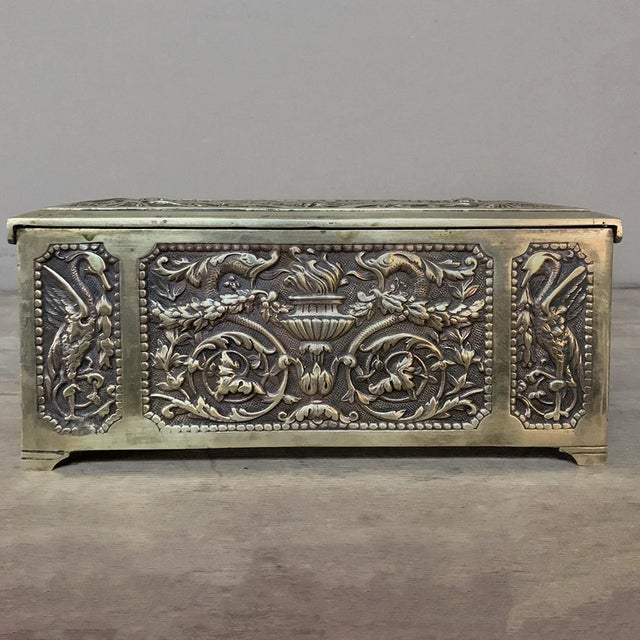 Jewelry Box, 19th Century French Renaissance, Cast in Bronze For Sale - Image 10 of 13