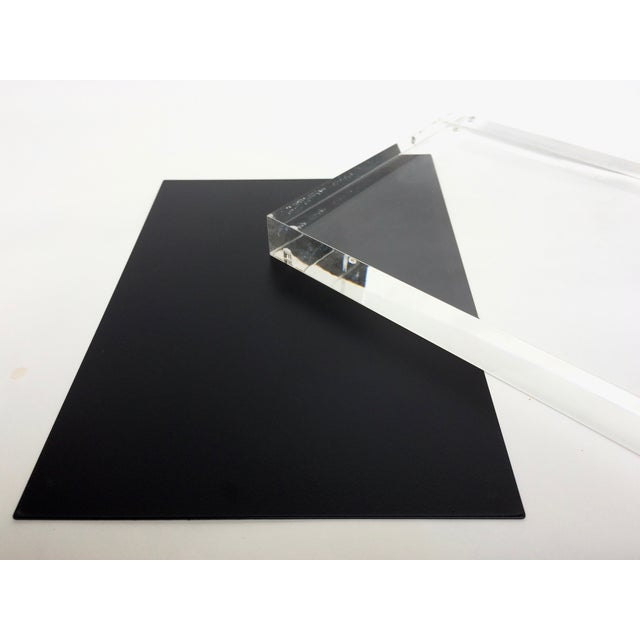 Black Metal & Lucite Standing Photo Frame - Image 4 of 4