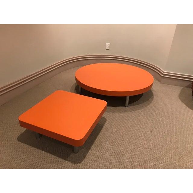 Modern Orange Coffee Tables A Pair Chairish