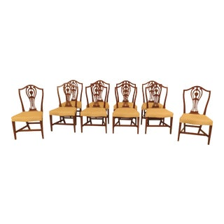 1970s Vintage Kittinger Historic Newport Mahogany Federal Dining Room Chairs- Set of 10 For Sale