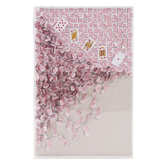 Kenneth Ludwig Wall Sculpture, Royal Flush Playing Card Artwork 2 For Sale In Chicago - Image 6 of 6