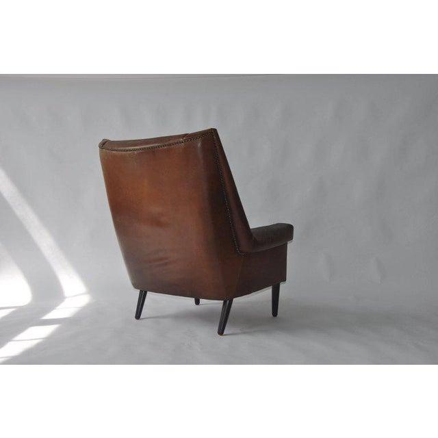 High Back Danish Lounge Chair - Image 6 of 7