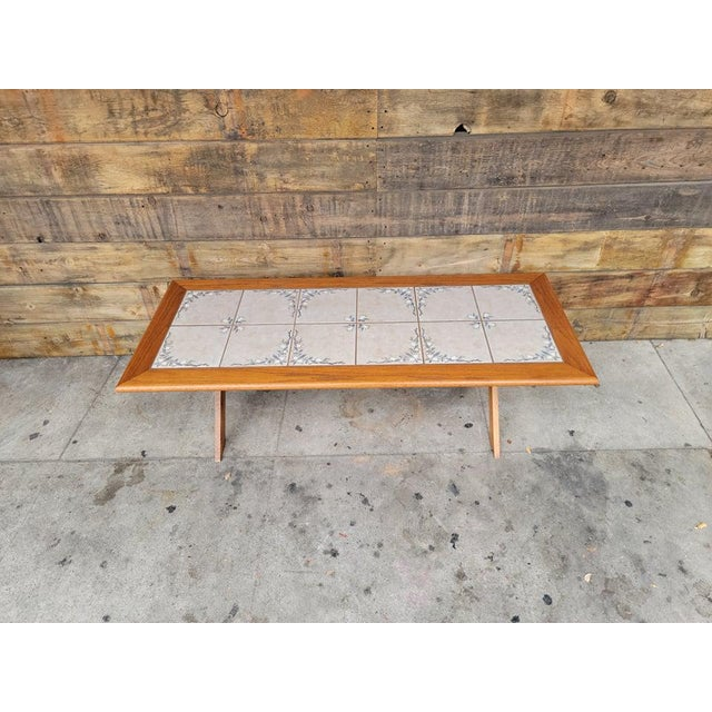 1980s Vintage Tile Top Coffee Table For Sale - Image 11 of 13