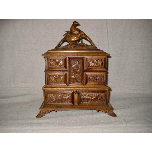 19 Century Black Forest Jewelry Box For Sale - Image 12 of 12