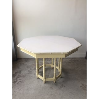 Vintage Thomasville Faux Bamboo Dining Table and Chairs Preview