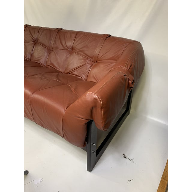 Percival Lafer Brazilian Sofa. Great sofa made out of rosewood and leather. Also have matching lounge chairs for sale....