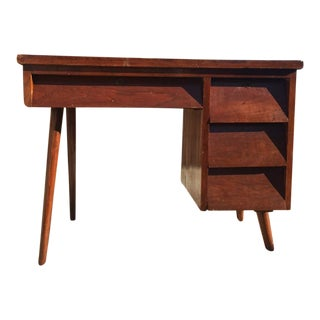 Mid-Century Rosewood Writing Desk With Tapered Legs