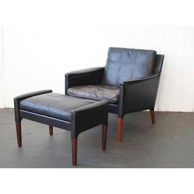 Modern Kurt Østervig Leather Lounge Chair and Ottoman For Sale - Image 3 of 7