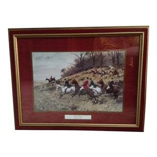 Print of Gone Away by George Wright Framed/ Covered by Glass Wall Art History For Sale