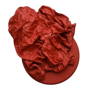Apple Red Folds Round For Sale