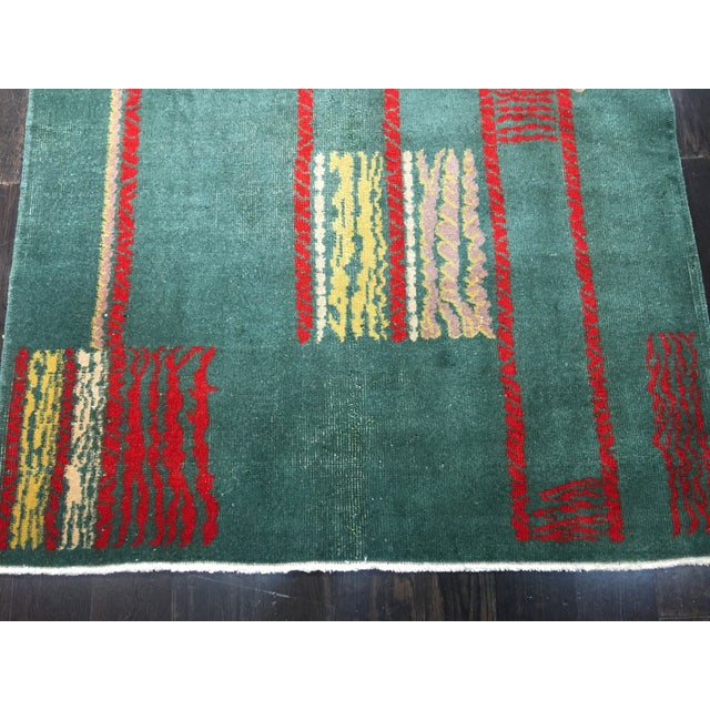 "Vintage Zeki Muran Turkish Rug - 4' X 7'1"" - Image 3 of 7"