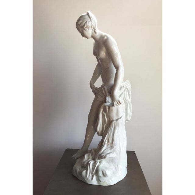 19th C. Falconet Porcelain 'Bather' Sculpture - Image 6 of 10