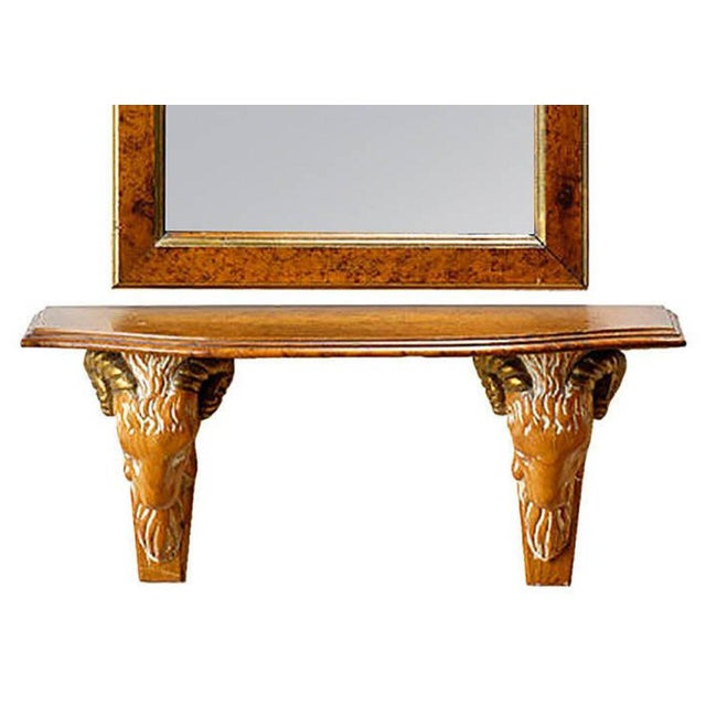 Carved and Gilt Ram's Head Mirror and Hanging Console - Image 7 of 9