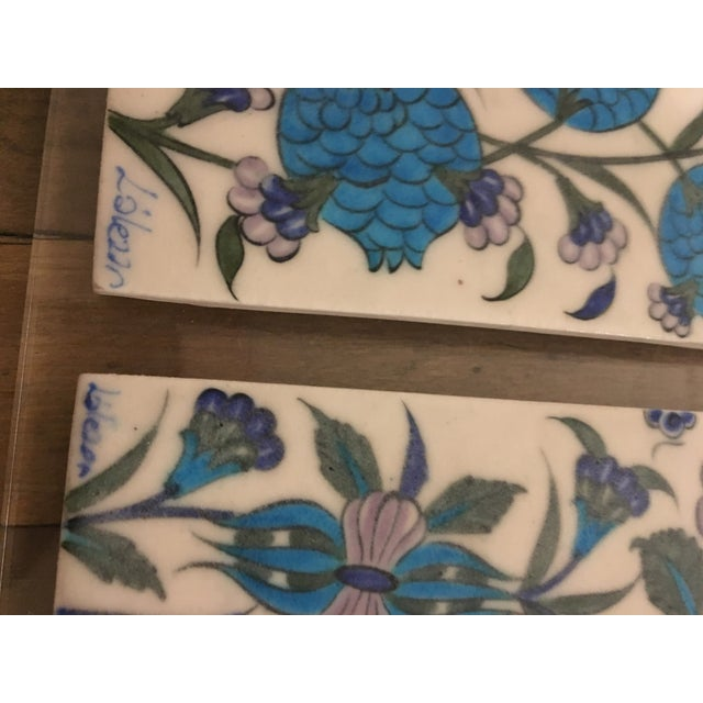 Vintage Persian Ceramic Tiles - Set of 3 - Image 5 of 6